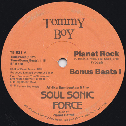 AFRIKA BAMBAATAA and The Soul Sonic Force - Music By Planet Patrol - Planet Rock