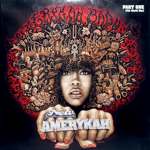 back to bionic ERYKAH BADU New Amerykah album cover graphic design emek motown soul neo soul spoken rnb Dope Cover : « New Amerykah Part I »