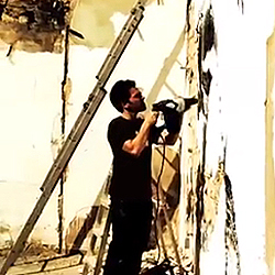 back to bionic VHILS Graffiti writer Street artist « SCRATCHING THE SURFACE » Performance by VHILS