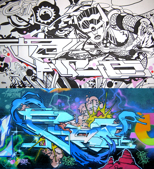pro gt ub focus graffiti 2 Graffiti – Writing Focus Part 06 : PRO 176 [Paris] visual art blog