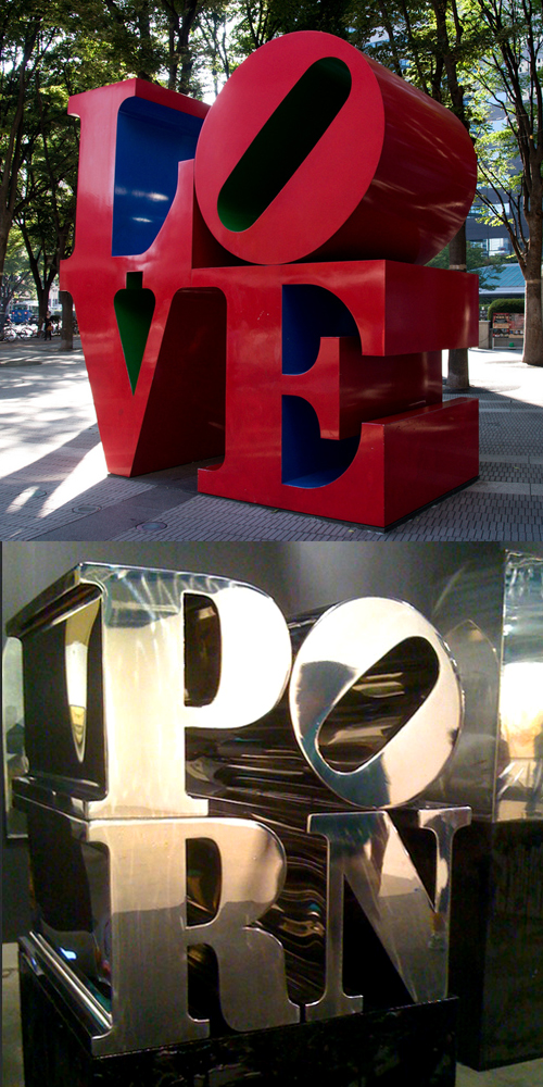 sculptor love robert indiana porn marc bijl LOVE AND PORN visual art blog