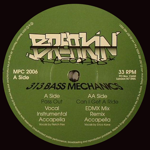 313 BASS MECHANICS - Ghetto booty - ep - vinyl - Ghetto Bass - BREAKIN RECORDS