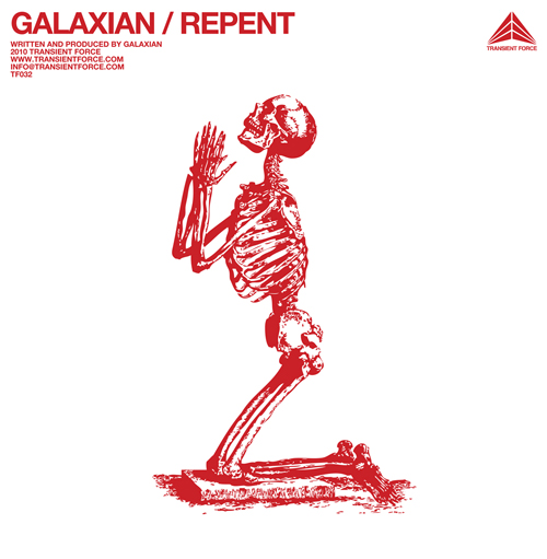 Repent Galaxian TF032 cover electro New release on TRANSIENT FORCE : « Repent » Album by GALAXIAN music reviews blog