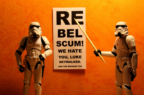 back to bionic Can you read this Luke Skywalker stormtroopers3651 STORMTROOPERS 365