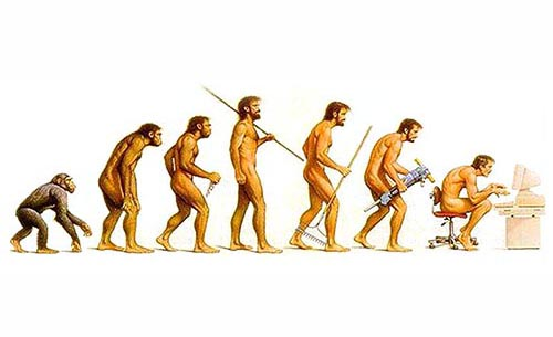 HUMANITY - Evolution / Regression - Stone Age  to Computer Age