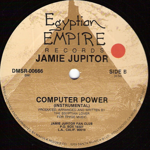 JAMIE JUPITOR - Computer Power - ep - vinyl - Egyptian Records - Electro Funk