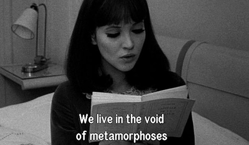 in the void of metamorphoses - alphaville - godard