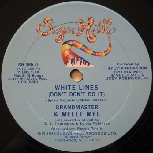Grandmaster Flash and Melle Mel - White Lines Don't Do It - vinyl ep - Sugar Hill Records - Hip-Hop - 80s classic