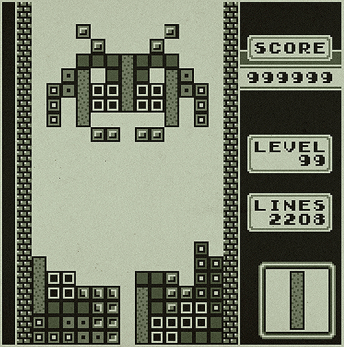 electro tetris space invader 6bit gameboy backtobionic Dr, I have bad dreams about Tetris blocks ? pamphlets