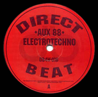 back to bionic AUX88 Electro Techno DIRECT BEAT cover vinyl detoit ELECTRO/TECHNO