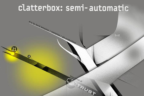 CLATTERBOX SEMI AUTOMATIC Vinyl TRUST uk electro break New release on TRUST : CLATTERBOX « Semi Automatic » EP music reviews blog