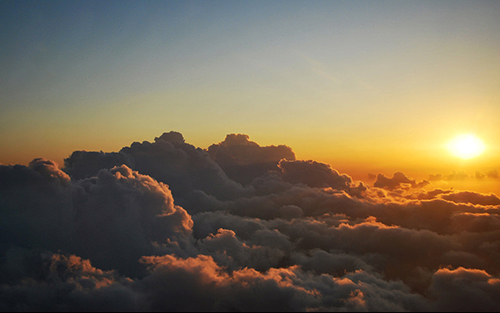 Electro music for flying above the clouds