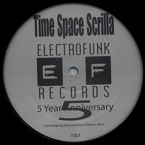 MR DE ' -Time space scrilla - ep - Electrofunk Records / Submerge - Detroit - Ghetto Tek - HiTtek