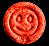 Ecstasy- Pill with smile imprint