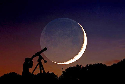 Moonlight - Full Moon - watching the stars / space