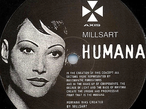 MILLSART - Humana - ep  - vinyl -Techno - Axis Label -  JEFF MILLS - Gamma Player