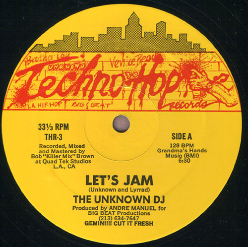 UNKNOWN DJ - Lets Jam - VINYL - ELECTRO - HIP-HOP - TECHNO HOP