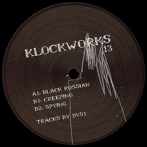 DVS1 - Black Russian - vinyl cover- Klockworks ‎- Dub Techno