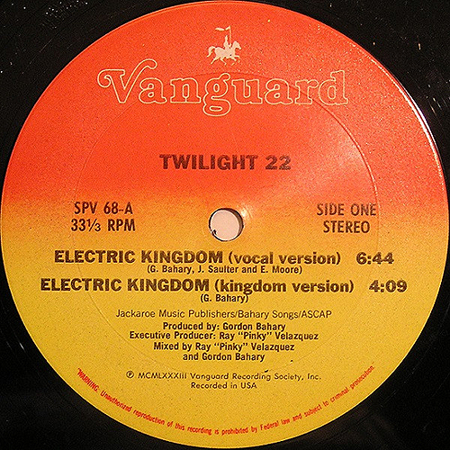 TWILIGHT 22 - electric kingdom - electro-rap - 1983